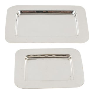 Christian Dior Silver Plate Jewelry Display Tray, Set of 2 For Sale