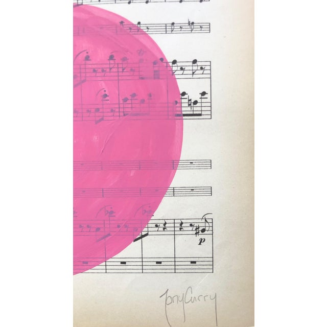 """Original Modern Painting by Tony Curry """"Pink Symphony"""". This very unique original painting is painted on vintage/antique..."""