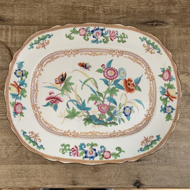 Chinoiserie Antique English Minton Chinoiserie Platter For Sale - Image 3 of 8