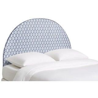 Kim Salmela Atelier Round Blue and White Queen Headboard For Sale