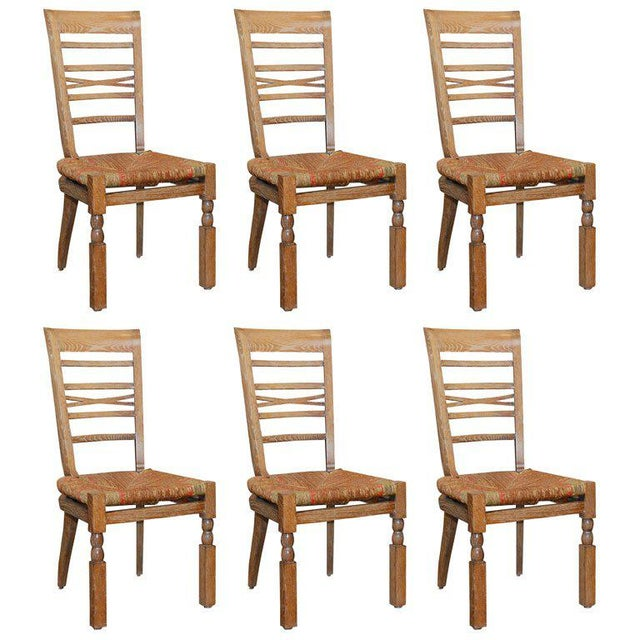 1940s Vintage French Dining Room Chairs Set Of 6 Chairish
