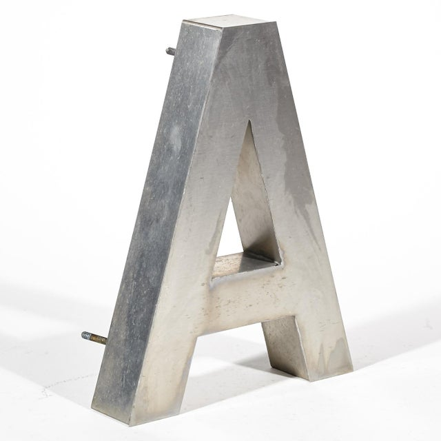 """Aluminum """"A"""" Letter - Image 3 of 4"""