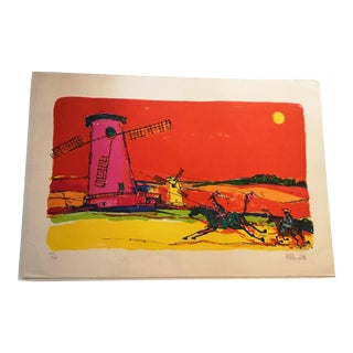 """""""Don Quijote 1"""" Alvin Carl Hollingsworth Limited Edition Signed Lithograph"""