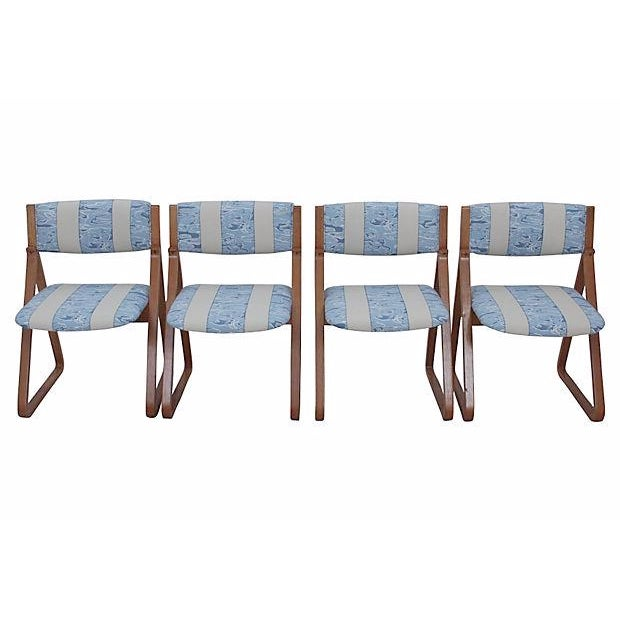 Waterwave Mid-century Dining Chairs - Set of 4 - Image 1 of 6