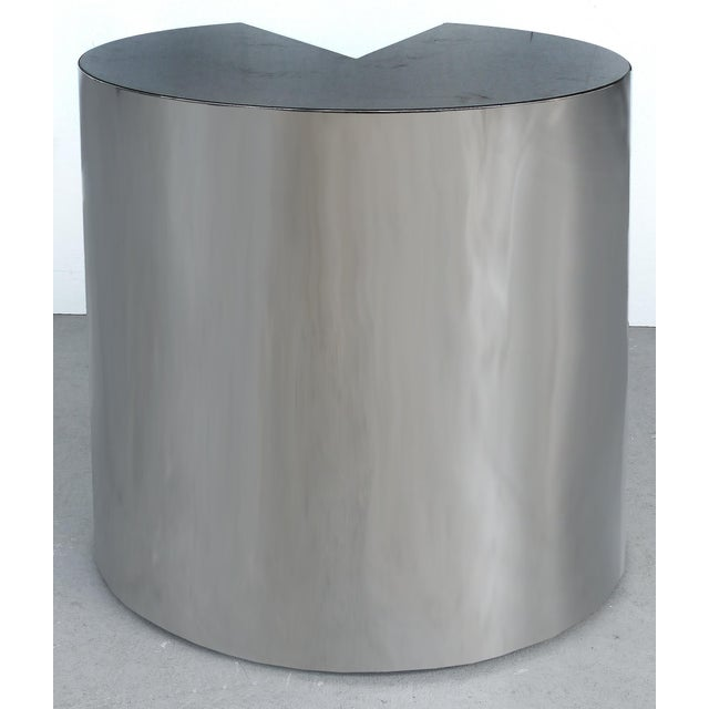 Pace Collection Pace Collection Stainless Steel and Granite Side Tables- a Pair For Sale - Image 4 of 8