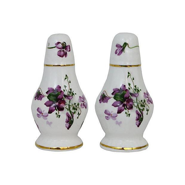 Lilacs Salt & Pepper Shakers - A Pair - Image 2 of 6