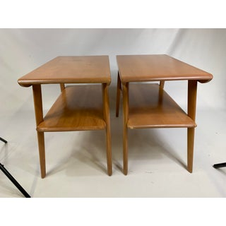 Mid-Century Heywood Wakefield Champagne Finish Stands - a Pair Preview