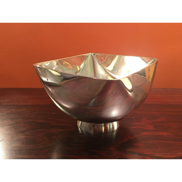 Ward Bennett Silverplate Bowl For Sale - Image 9 of 12