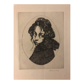 Maggie a Girl of the Streete Etching by Sigmund Abeles 1969 For Sale