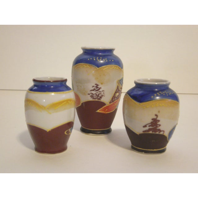 Miniature Satsuma Vases - Set of 8 - Image 10 of 11