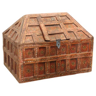 Small Teak Dowry Chest For Sale