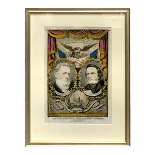 1856 N. Currier Buchanan & Breckenridge Grand National Democratic Banner For Sale