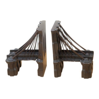 Cast Iron Brooklyn Bridge Bookends - a Pair For Sale