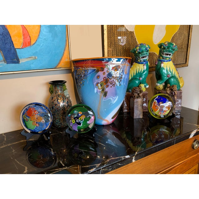 Contemporary Contemporary Hand Blown Glass Vase For Sale - Image 3 of 4