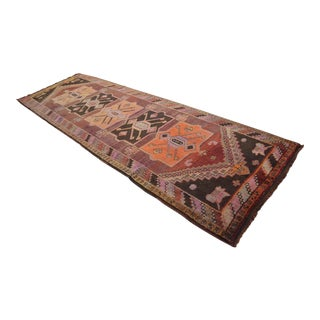 Hand Knotted Tribal Runner Rug - 3′11 ″ x 11′10″