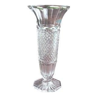 Cut Crystal Octagonal Vase