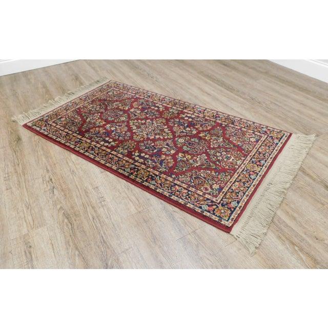 Contemporary Karastan Red Sarouk #785 Rug 5' x 2' Multicolor Area Throw Rug For Sale - Image 3 of 13