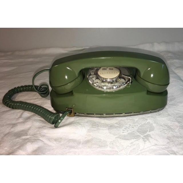 Vintage Pea Green Rotary Princess Phone - Image 4 of 8