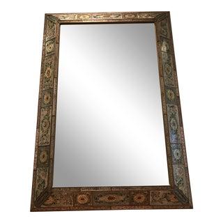 Peruvian Reverse Glass Floor Mirror For Sale