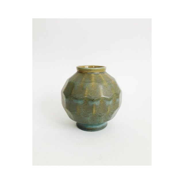 Vintage Faceted Pottery Vase For Sale In San Francisco - Image 6 of 6