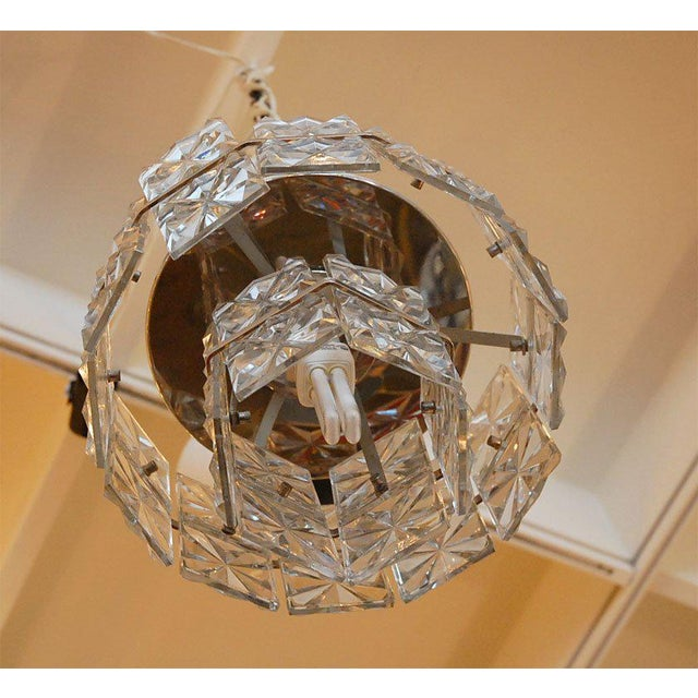1960s Glass Chandelier For Sale In Los Angeles - Image 6 of 8