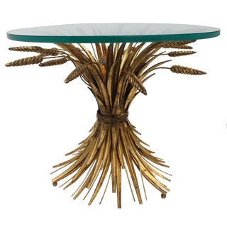 Vintage Italian Gilt Wheat Sheaf Table For Sale