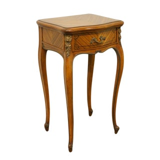 Vintage Bethlehem Bookmatched Mahogany Louis XVI Nightstand For Sale