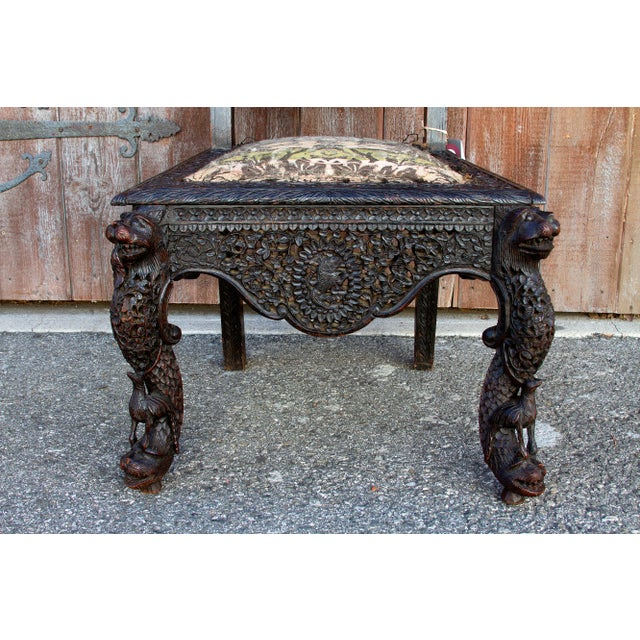 Anglo-Indian Intricate Carved Chair For Sale In Los Angeles - Image 6 of 12