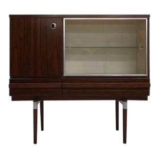 Retro 70s Vintage Danish Mid-Century Modern Display Storage Cabinet Buffet Part of Set For Sale