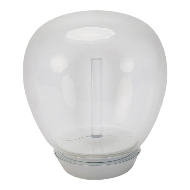 Artemide Led Hand Blown Glass Globe Table Lamp For Sale