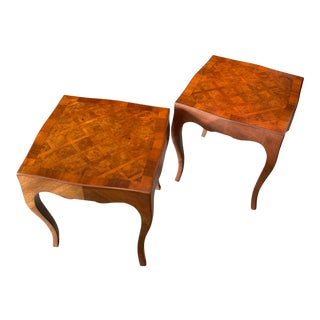 1950s Italian Tables With Cabriolet Legs - a Pair For Sale