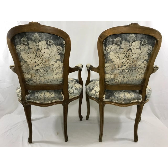 French Louis XV Style Arm Chair For Sale - Image 3 of 6