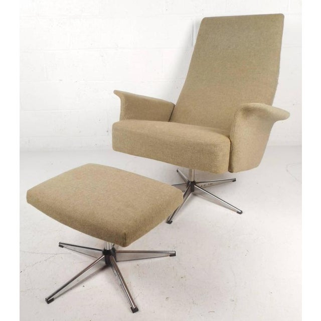 Mid-Century Modern Adjustable Danish Lounge Chair and Ottoman - Image 2 of 11