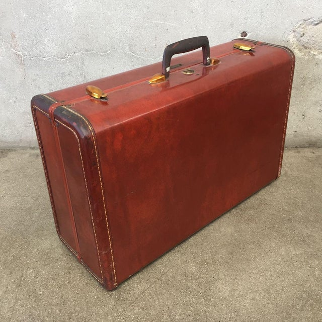 Vintage Samsonite Luggage Beautiful / Lovely caramel colored vintage Samsonite leather hard sided suitcase. Shwayder Bros....