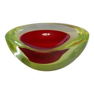 Murano Glass Bowl by Antonio da Ros for Gino Cenedese circa 1960 For Sale