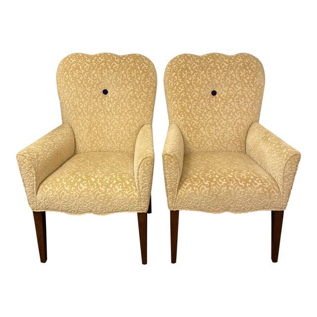 Decorators Walk John Oetgen Collection Chairs - a Pair For Sale