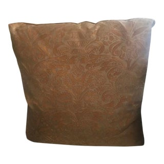 Extra Large Rich Copper & Gold Fortuny Pillow