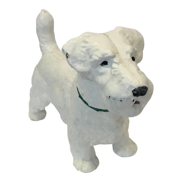 Iron Dog Westie Decorative Figurine - Image 1 of 4