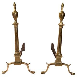 Pair of 18th Century Philadelphia Andirons