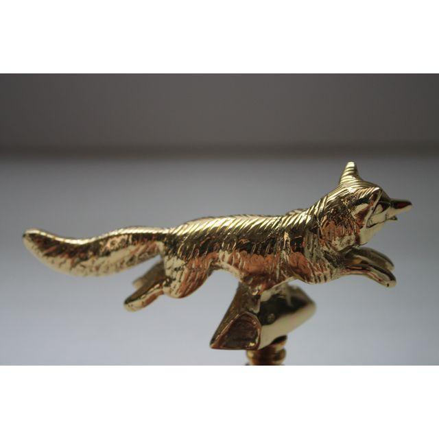 Solid Brass Fox Finials - A Pair - Image 3 of 3