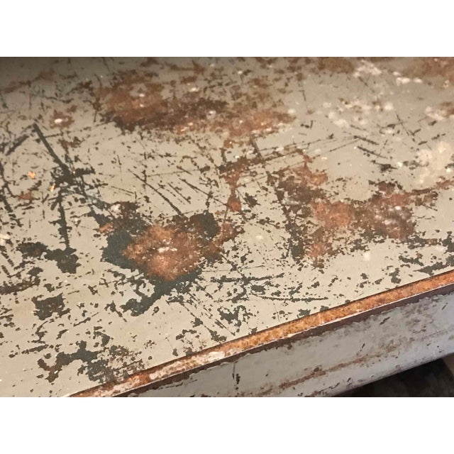 Industrial Early 20th Century Metal Shelves Salvaged From Textile Factory in England For Sale - Image 3 of 5