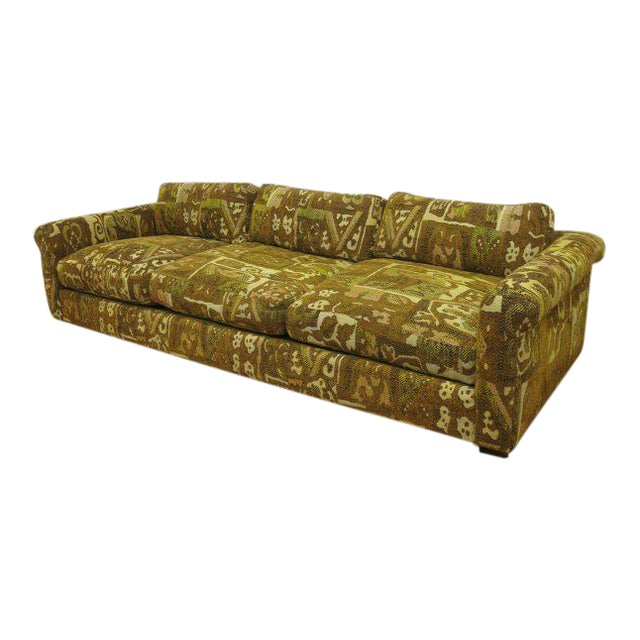 Milo Baughman for Thayer Coggin Abstract Patterned Sofa For Sale