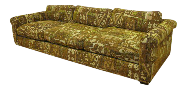Milo Baughman For Thayer Coggin Abstract Patterned Sofa   Image 1 Of 5