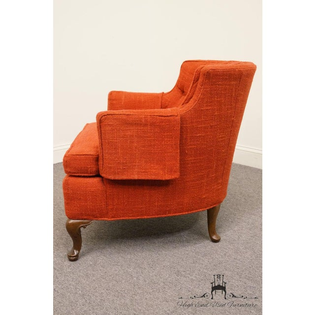 Late 20th Century Henredon Mid-Century Upholstered Accent Arm Chair For Sale - Image 5 of 9
