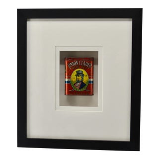 Late 20th Century Vintage Uncle Sam Patriotic Tin, Framed For Sale