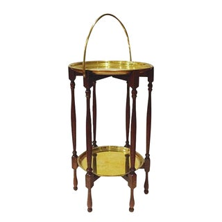 Vintage Turkish Two-Tiered Side Table