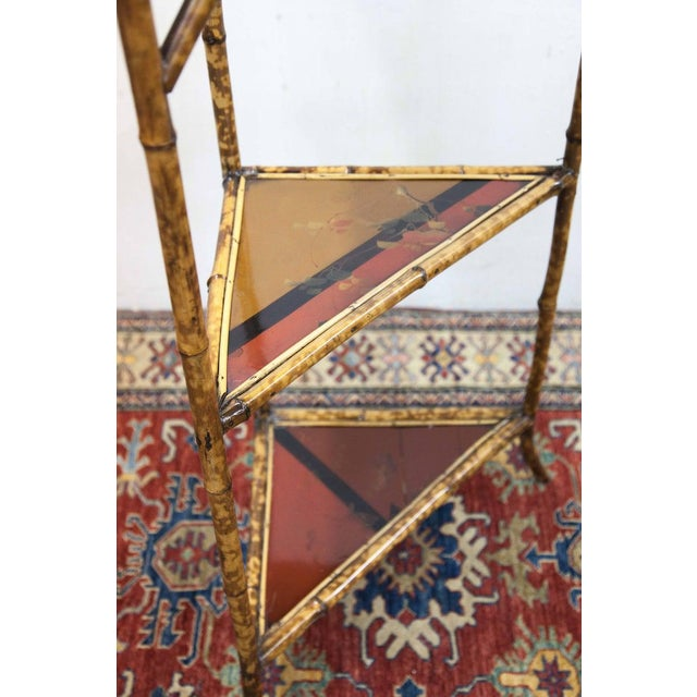 Late 19th Century Bamboo & Lacquer Corner Stand For Sale In Raleigh - Image 6 of 8