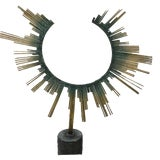 Image of Curtis Jere Brass Table Sculpture For Sale
