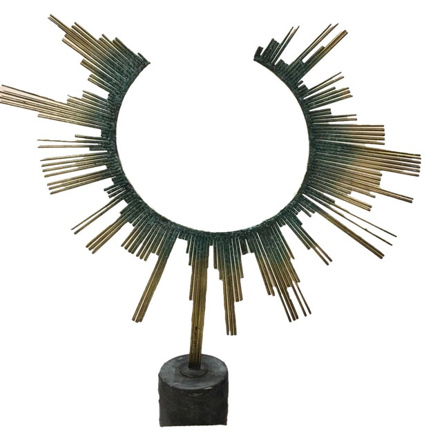Curtis Jere Brass Table Sculpture For Sale