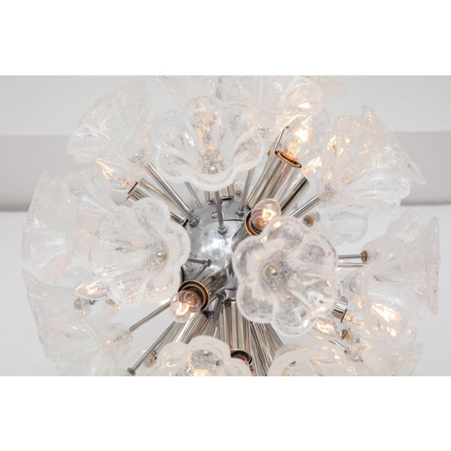 Italian Floral Glass Sputnik Chandelier For Sale - Image 10 of 11
